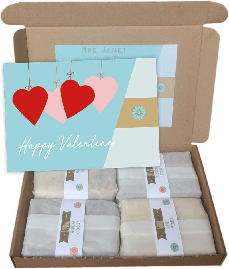 Valentijns cadeau chocolade brownie