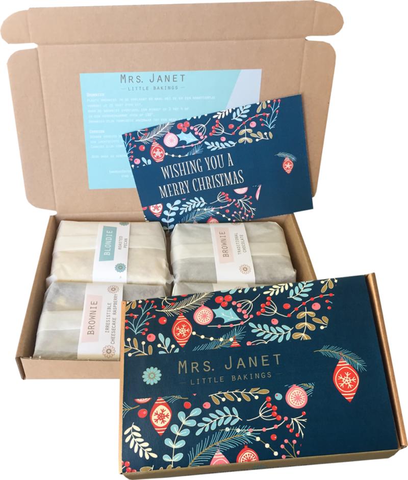 Brownies voor kerst | Bestel online dé lekkerste kerstkaart bij Mrs Janet